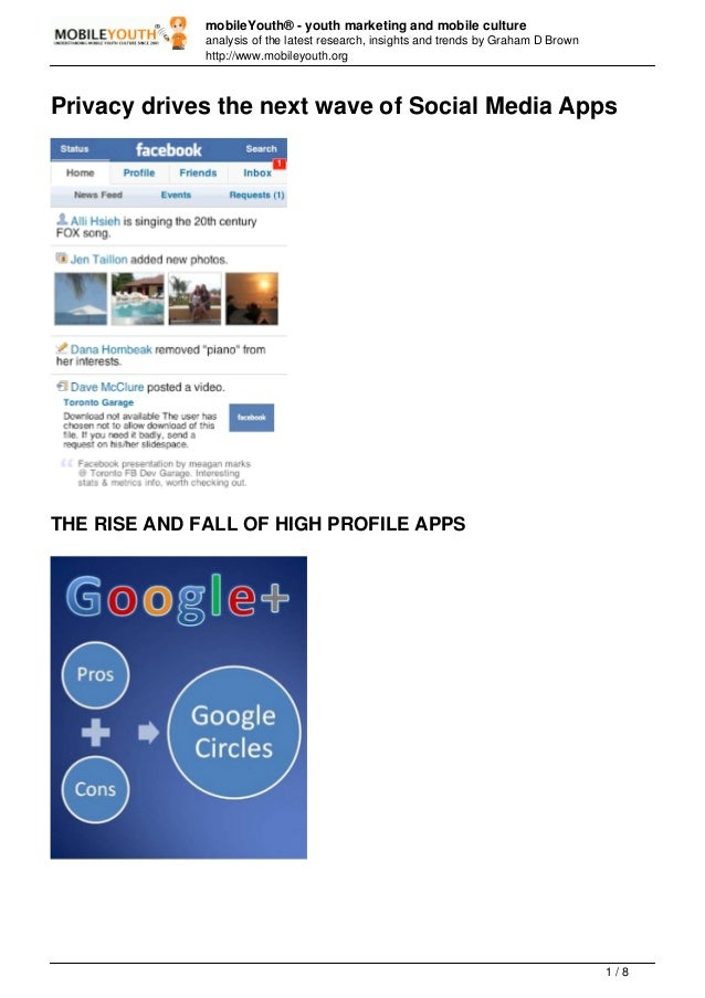 Privacy drives the next wave of Social Media Apps (Graham Brown mobileYouth) << DOWNLOAD PDF