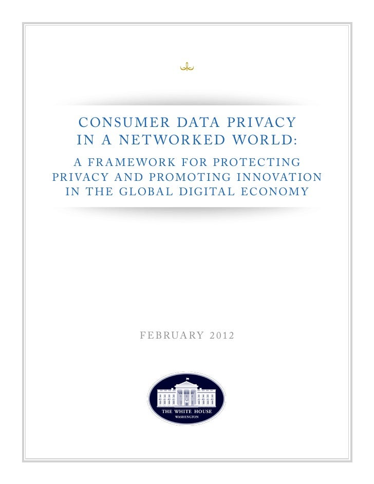 Consumer Privacy Bill of Rights.