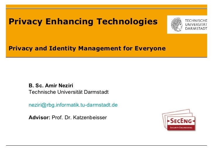 Privacy and identity management for everyone