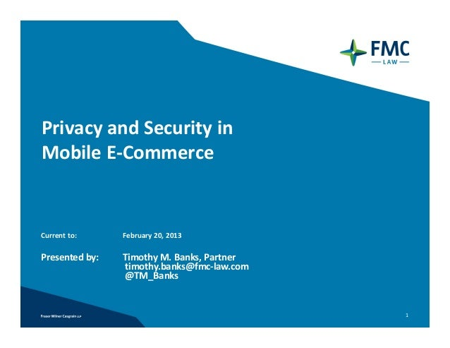 Privacy and Security in Mobile E-Commerce