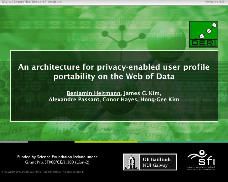 An architecture for privacy-enabled user profile portability on the Web of Data