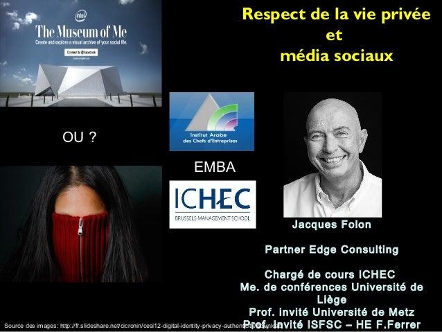 Privacy et media sociaux nov 2012