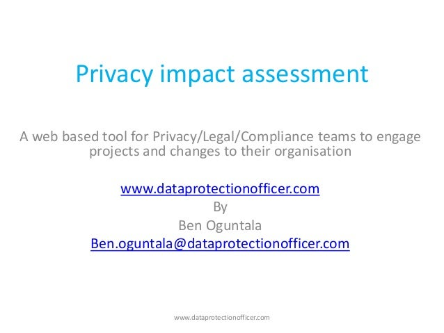 Privacy Impact Assessment Final