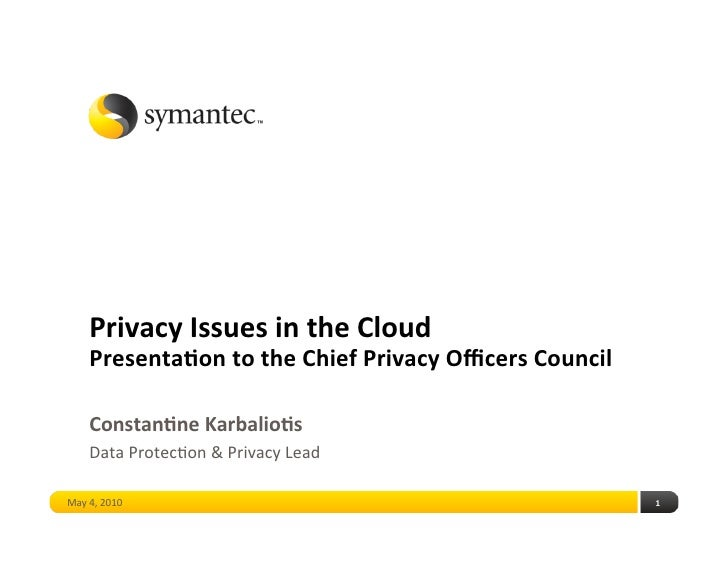 Privacy issues in the cloud   final