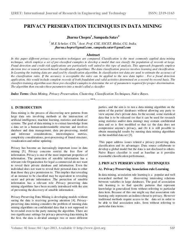 research papers on data mining techniques 45 great resources for learning data mining concepts and techniques big-oil-goes-mining-for-big-data/ biohunter _ research data mining and kdd papers.