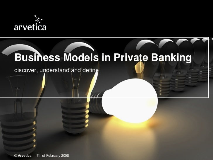 Private Banking Business Models
