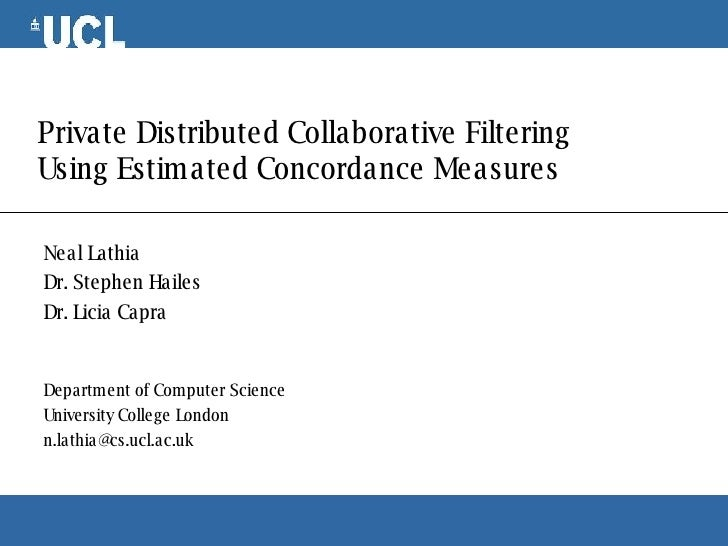 Private Distributed Collaborative Filtering