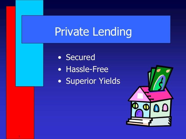 Private lending 5-15-11