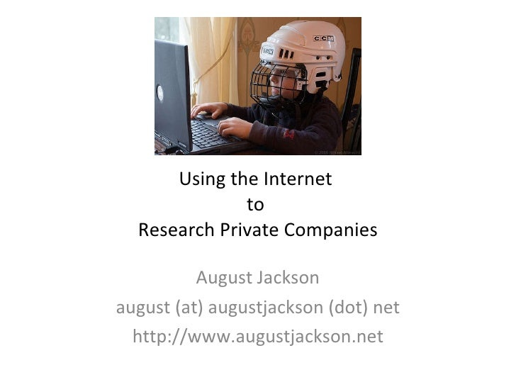 Using the Internet to Research Private Companies for Competitive Intelligence