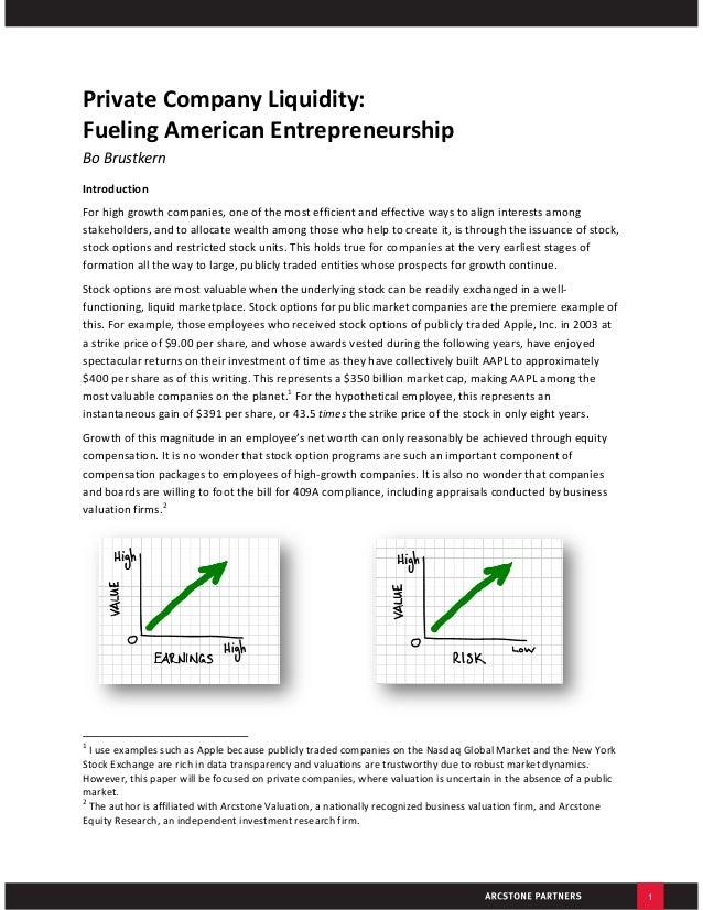 Private Company Liquidity Fuels Entrepreneurship