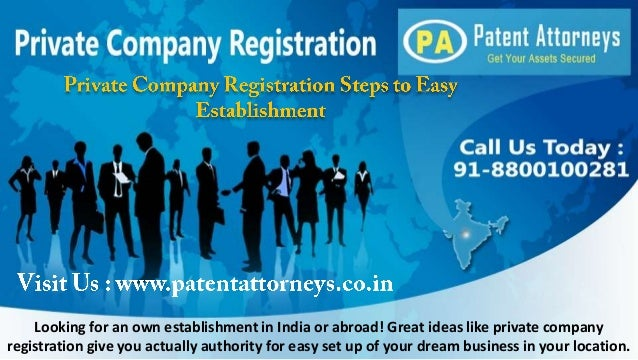 Looking for an own establishment in India or abroad! Great ideas like private company registration give you actually autho...
