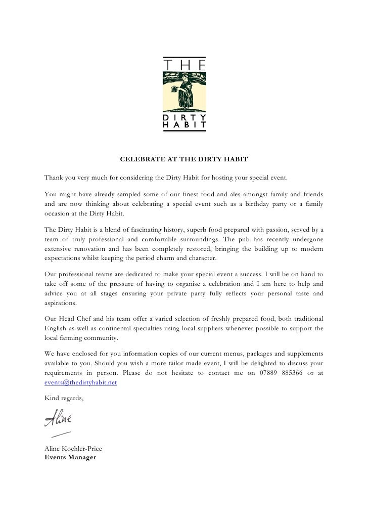 CELEBRATE AT THE DIRTY HABIT  Thank you very much for considering the Dirty Habit for hosting your special event.  You mig...