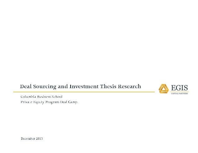 Private equity research papers