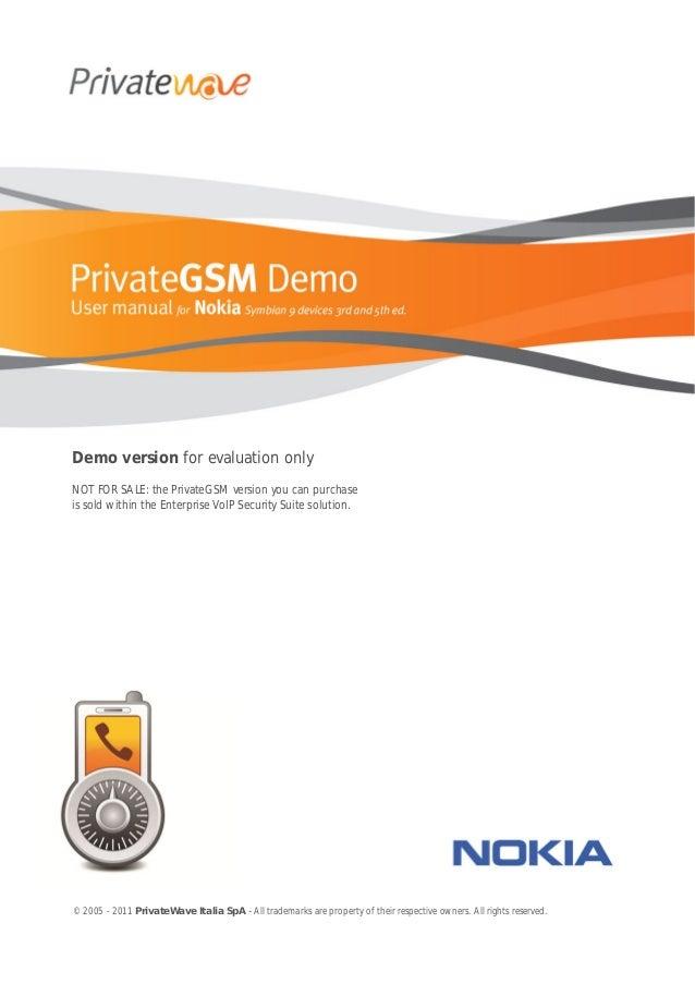 Private gsm demo user_manual_nokia_en