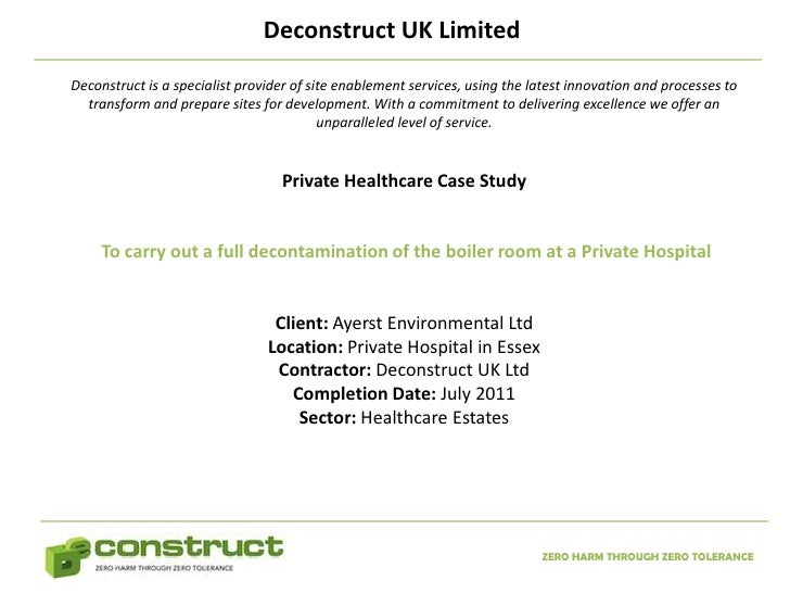 Deconstruct UK LimitedDeconstruct is a specialist provider of site enablement services, using the latest innovation and pr...
