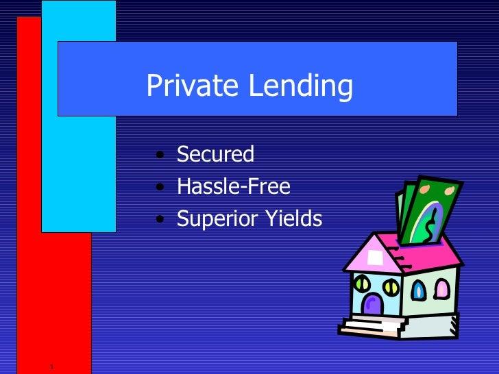 Private lending 3-29-11