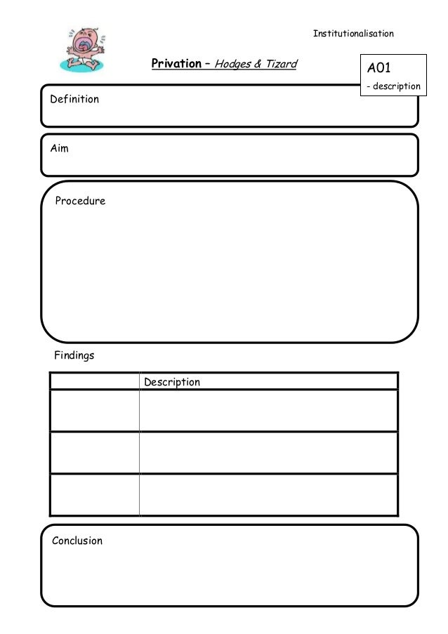 Privation note sheet