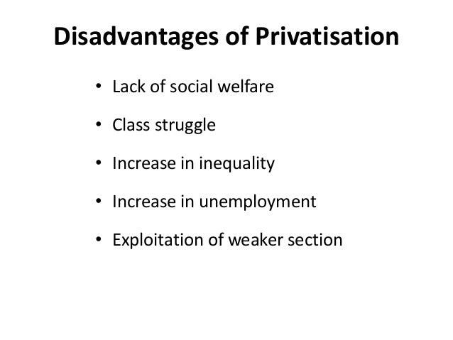 advantages and disadvantages of privatisation 2