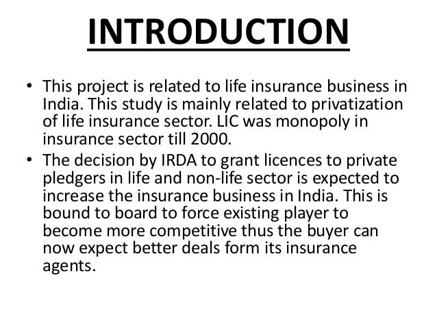 essay on insurance sector 11 introduction: health and health care need to be distinguished from each other for no better reason than that the former is often incorrectly seen as.
