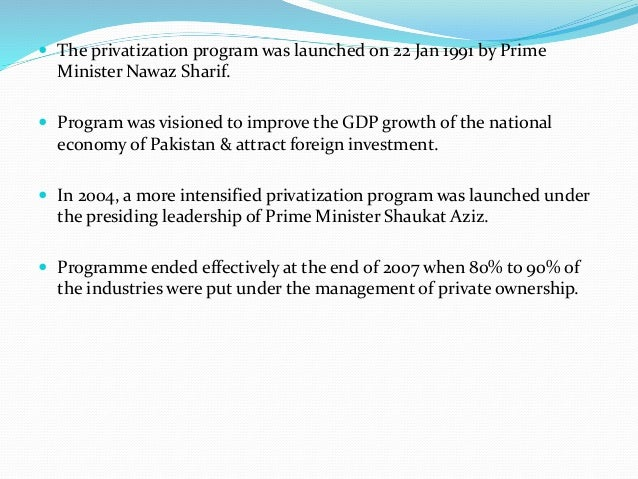 privatization in pakistan The pakistan red crescent society is a member the international federation of the red cross and red sos children's villages is a private social welfare.