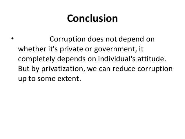 privatization will lead to less corruption essay