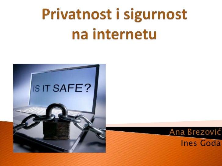 Privatnost i sigurnost na internetu