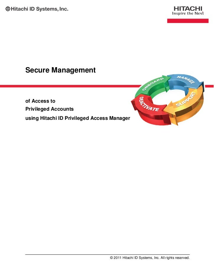 Secure Management of Access to Privileged Accounts