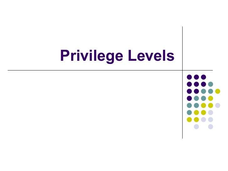 Privilege levels 80386