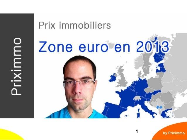 Europe : le marché immobilier en 2013