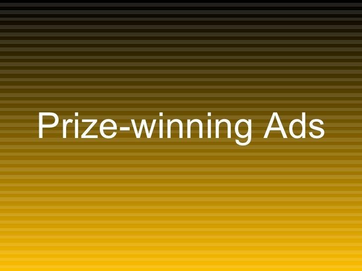 Publicidades Vencedores de Prêmios