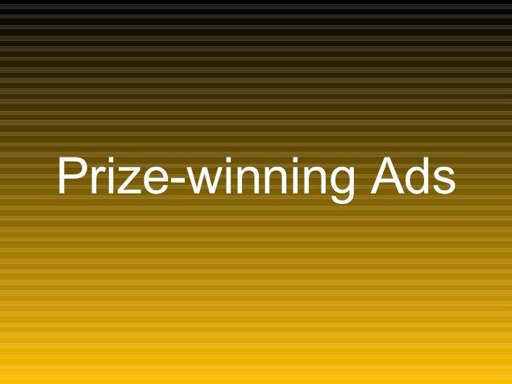 Prize Winningads