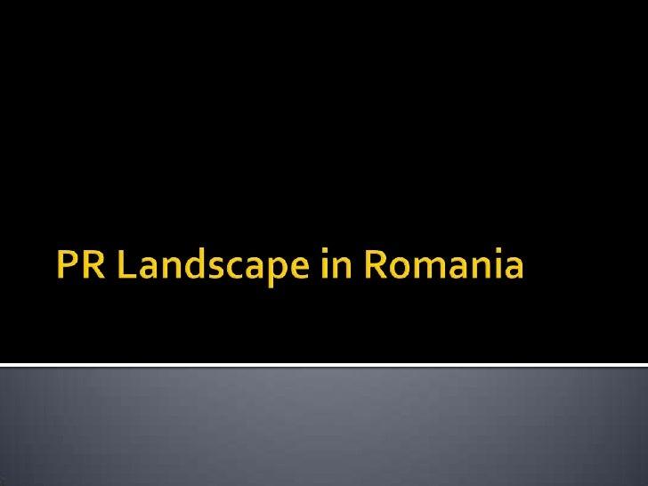 PR In Romania