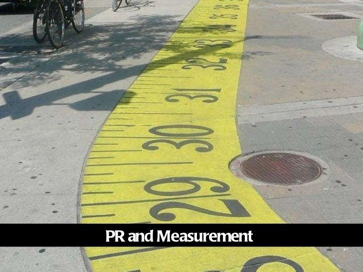 PR and Measurement