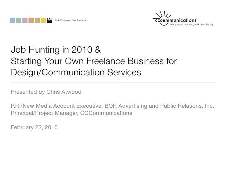 cccommunications                                                            bringing vision to your marketing     Job Hunt...