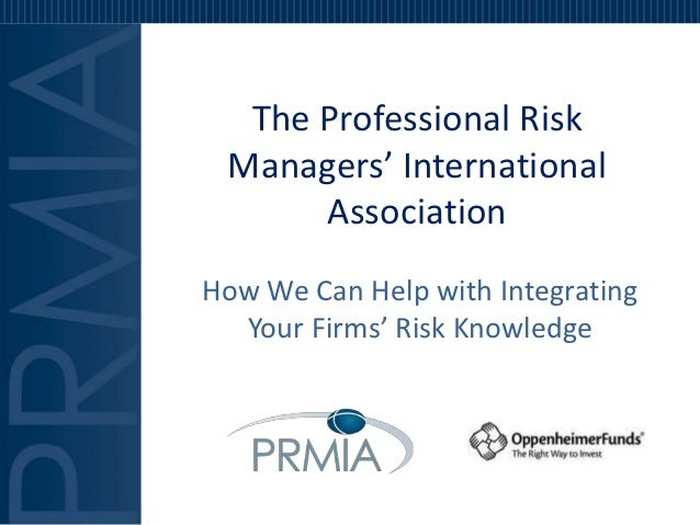 PRMIA Training