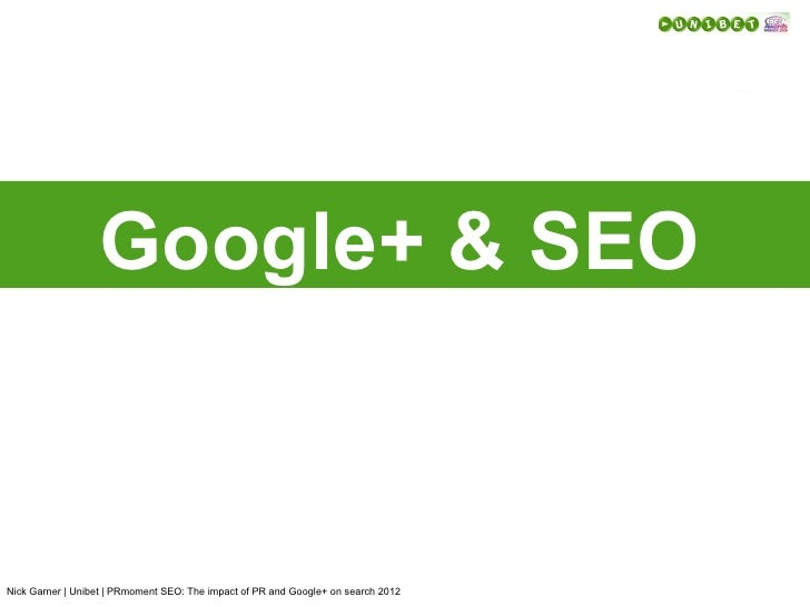 PR Moment COnference . Google+ & SEO
