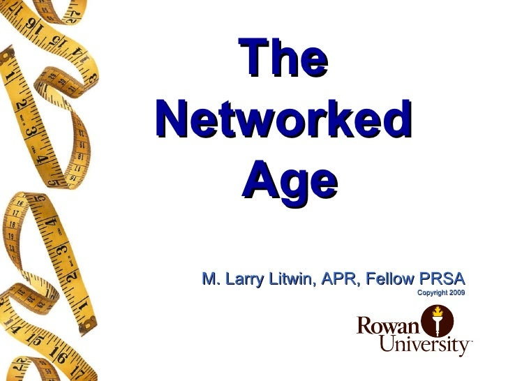 PR Networked Age  Big Lecture Fall 2009