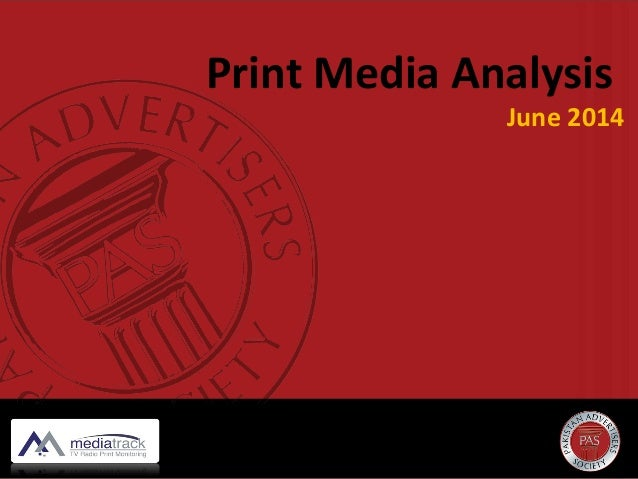 Print Media Analysis June 2014