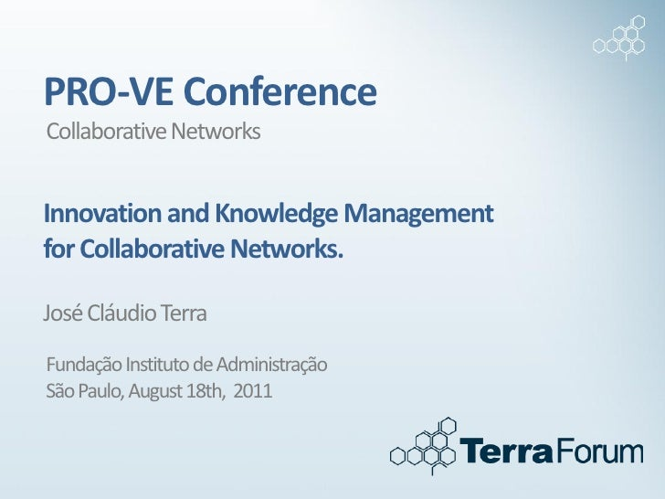 PRO VE international conference - Innovation and Knowledge Networks