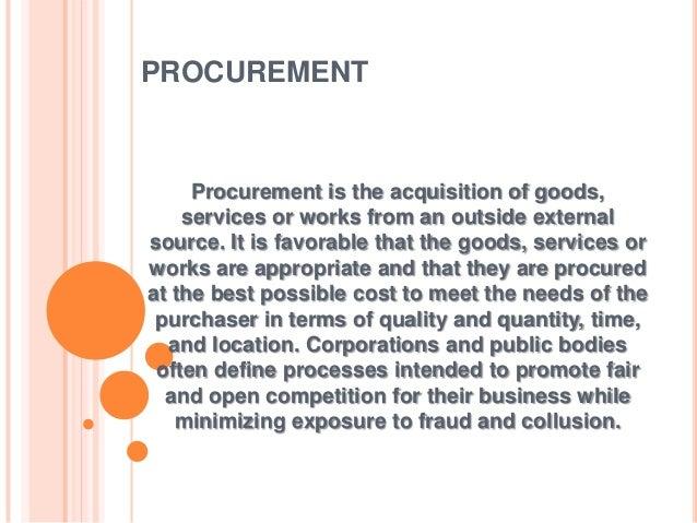 What Is Procurement