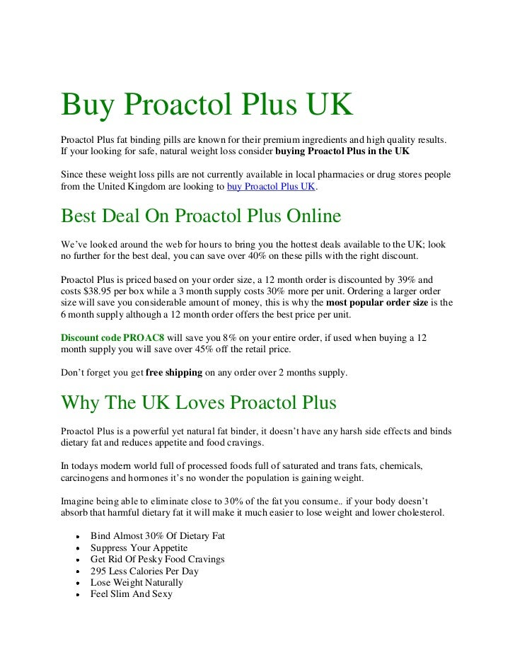 Buy Proactol Plus UK
