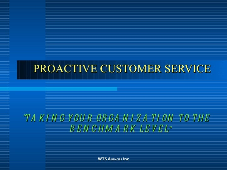Proactive Customer Service 1 16 04