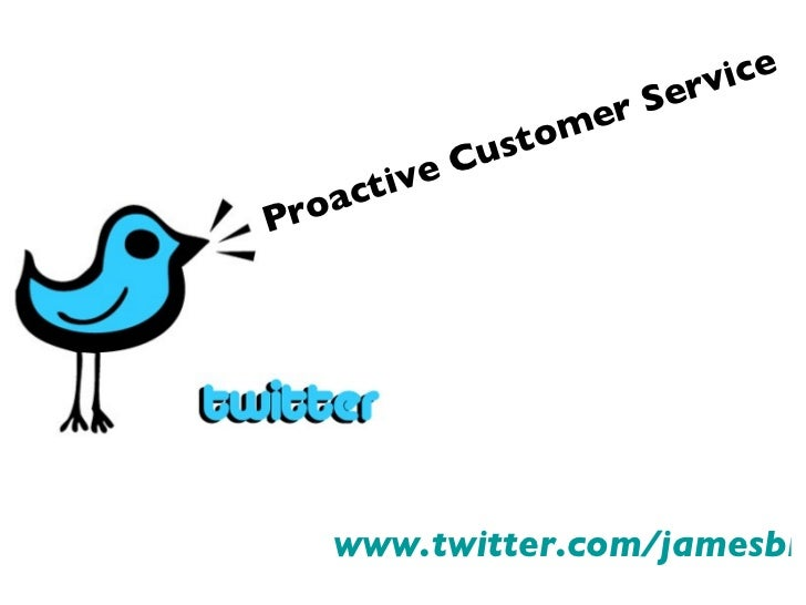 Proactive Customer Service with Twitter