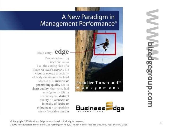 Proactive Turnaround Management