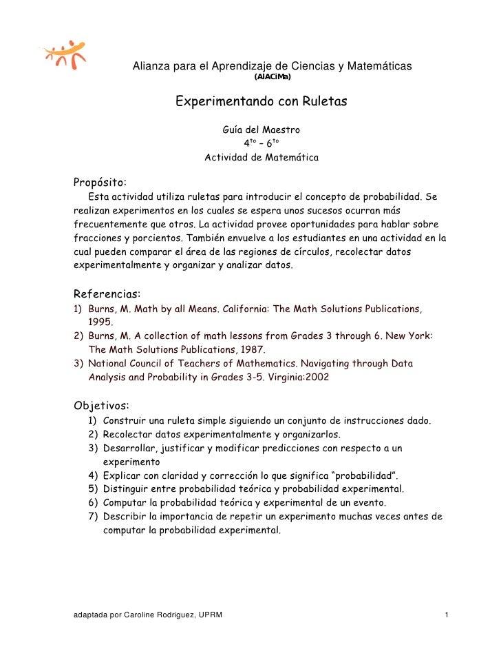 Alianza para el Aprendizaje de Ciencias y Matemáticas                                           (AlACiMa)                 ...