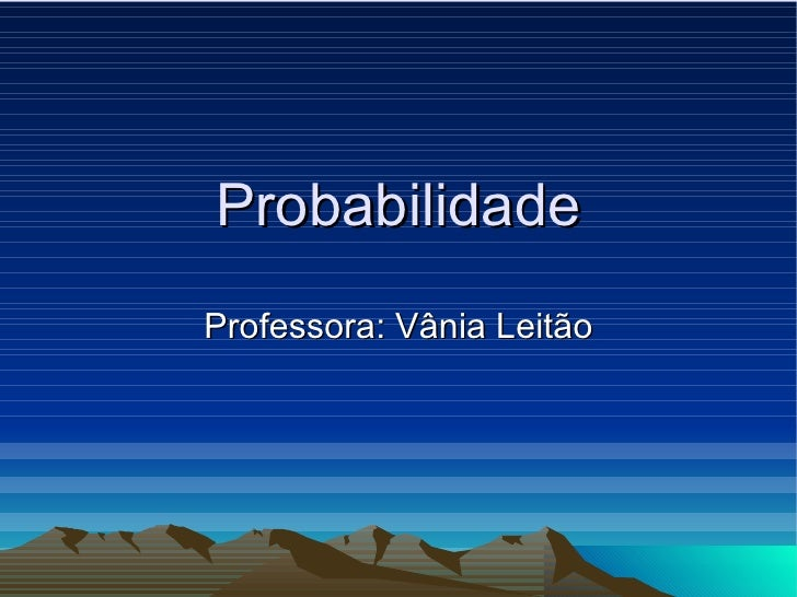 Probabilidade - Definição