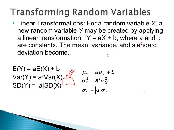 how to find the mean of a random variable