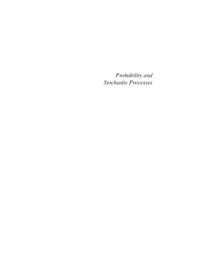 Probability and Stochastic Processes - A Friendly Introduction for Electrical and Computer Engineers