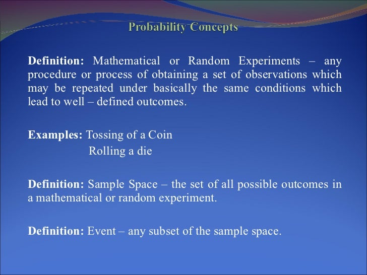 Probability concepts and the normal distribution