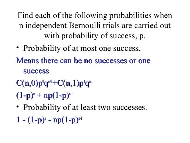 how to find probability of at least one